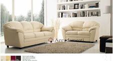 divano imbottito 2 posti e 3 posti in ecopelle pelle salotto sofà divani italian
