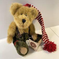 Boyds Bears Ernie Elfbeary Jointed Christmas Holiday Plush Beans 918358