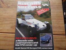 Kitcars & Specials Magazine JAN 1986 Kit Car VINTAGE SHED GARAGE BARN FIND