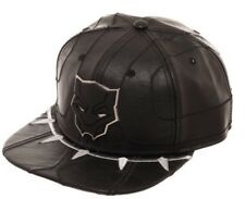 Marvel Comics BLACK PANTHER Suit Up Leather SnapBack Hat