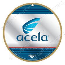 Amtrak - Acela - Logo Wood Plaque-Sign /Man Cave/Train & Kids Room