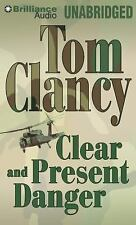 Tom Clancy CLEAR & PRESENT DANGER Unabridged 22 CDs 26 Hours *NEW* FAST Ship!