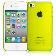 LIME GREEN ULTRA SLIM HARD PROTECTIVE BACK COVER CASE SKIN FOR APPLE iPHONE 4 4S