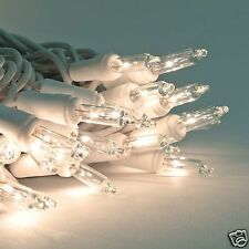 5 STRINGS -100 Mini Clear/White Christmas /Wedding String Lights - White Wire