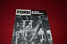 Ford Tractor Utility Backhoes Dealer's Brochure AD-5416 LCOH