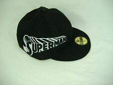 New Era Superman 7 1/8 Fitted Black White Cap Hat 59 50 Fifty 56.8 cm 5950 $33