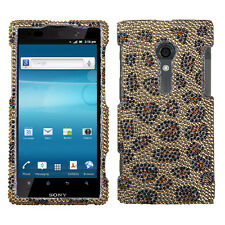 Sony Xperia Ion Crystal Diamond BLING Hard Protector Case Phone Cover Leopard