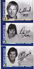 09-10 ITG Don Lever Auto 1972 The Year In Hockey Vancouver Canucks 2009