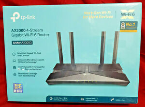 Tp-link Archer AX3000 4-Stream Gigabit Wi-Fi 6 Router 574 MBPS on 2.4 GHZ