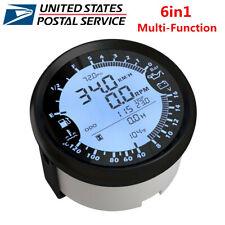85mm Universal Digital GPS Speedometer Tachometer 6in1 MultiFunction Gauge Meter