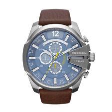 DZ4281 New Genuine DIESEL Master Chief S/Steel Watch on Leather Strap RRP £195