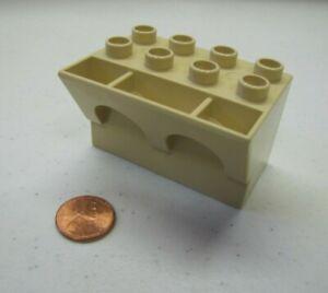 Lego Duplo CASTLE KNIGHT DRAGON TOWER ARCHED PARAPET Block Tan Part