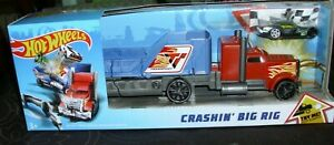 Hot Wheels Crashin' Big Rig Playset with 1 Vehicle New