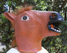 Horse Full Head Latex Rubber Mask Cheval Masque Cosplay Party Costume Prop Toy