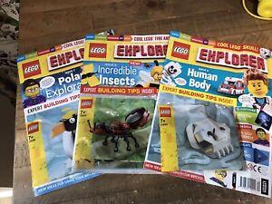 Lego Explorer Magazines Issues 7-9
