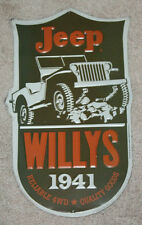 1941 WILLYS JEEP Metal SIGNS MAN CAVE DECOR GAS PUMP DAD GIFT Restaurant Rustic