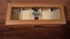 Art Glass Imports 6050 Tan Leather 5 Watch Case