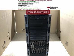 Dell PowerEdge T430 2x E5-2620v3 48GB PercH730P 2x 146GB 15K SAS Tower Server