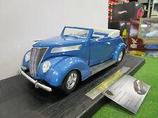 FORD CONVERTIBLE 1937 cabriolet ouvert bleu 1/18 YATMING 92238 voiture miniature