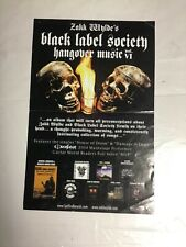 Rare! Oop! 17x11 all original Lp Cd Promo Poster Black Label Society Bls 2-sided