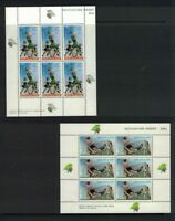 NZ316) New Zealand 1970 Health / Basketball / Soccer Minisheets MLH