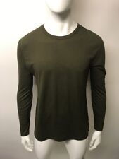 T By Alexander Wang Crew Neck L/S T-Shirt Size S Green