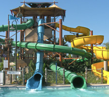 40' Commercial Fiberglass 3 Single Water Slide Playground Splash Pad We Finance
