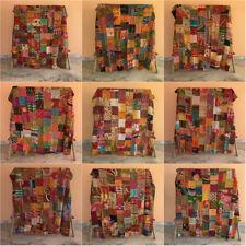 Vintage Kantha Bedding Quilt Indian Patchwork Bedspread Coverlet Blanket Throw