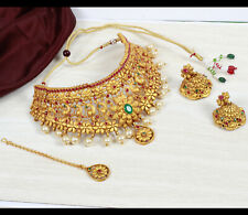 Indian Bollywood Choker Necklace Gold Plated Latest Jewelry Party Wedding Bridal