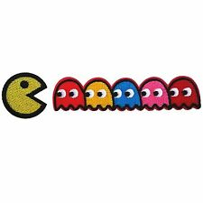 Pacman set Namco Video Game Cartoon Embroidery Iron on Patches