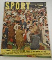 Sport Magazine Brooklyn Dodgers & Bob Williams October 1950 NO ML 072414R