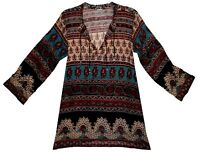 Indian Boho Cotton Ethnic Top Hippie Blouse Retro Gypsy Blusa Tunic Dress Vtg
