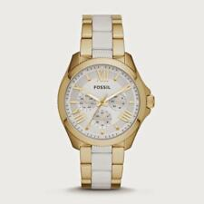 NEW FOSSIL LADIES CECILE WHITE AND GOLD STAINLESS STEEL Watch AM4545