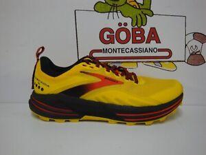 BROOKS CASCADIA 16 MEN'S 745 - Yellow/Black/Grenadine - 110376 1D 745