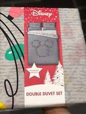 Disney Mickey Mouse Christmas Lights Double Duvet Bedding Set Aldi