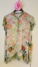 JWC s small blues HOLLY TUNIC butterfly silk JWLA Johnny Was nwt new collection