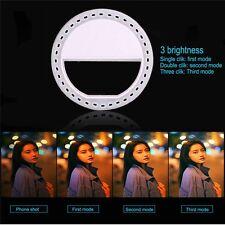 Mini Selfie LED Ring Flash Light Camera Photography For iPhone Smart Phone