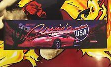 Cruis'n USA Arcade Marquee Midway Translight Header Sign Cruisin Cruising The