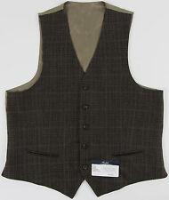 Men's RALPH LAUREN Olive Brown Wool Plaid Suit Dress Vest 40L 40 LONG NWoT NEW