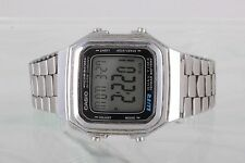 CASIO ILLUMINATOR ALARM CHRONO DUAL TIME 10 YEAR BATTERY A178W WRIST WATCH 1981B