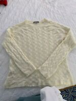 Marled Reunited Clothing cream womans Size large cable Knit Sweater Pullover