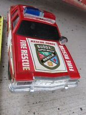 1993 BUDDY L FIRE CHIEF CAR WITH BATTERY OPERATED LIGHTS & SIREN