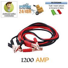 CAVI COLLEGAMENTO BATTERIA 1200 AMP AVVIAMENTO AUTO CAMPER CAMION MOTO