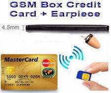 GSM BOX Credit Card Earpiece Spy Covert Bluetooth Hidden SIM Exam Test ID