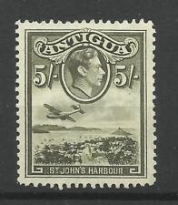 Antigua 1938 SG 107, 5/- Verde Oliva, montato Nuovo di zecca. [1668]