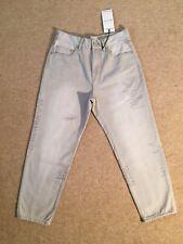 WAVEN 100% cotton Style AKI True Boyfriend oat grey jeans Size 26 UK 8 New Tags