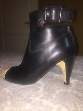 Authentic black Chanel Booties, 38