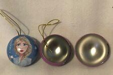 Disney - Frozen - Anna & Elsa - Tin Christmas Baubles - Excellent Condition