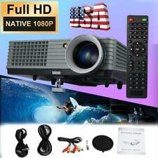 US LED Portable Video Projector Home Cinema Theater HD 1080P HDMI USB VGA 1000:1