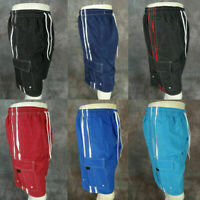 Mens CARGO SHORTS SWIM TRUNKS Elastic with Mesh Lining in 6 Color Choices!